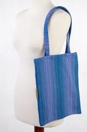 842c6bda4e62f7 Torba na zakupy z materiału chustowego, (100% bawełna) - LITTLE LOVE - OCEAN
